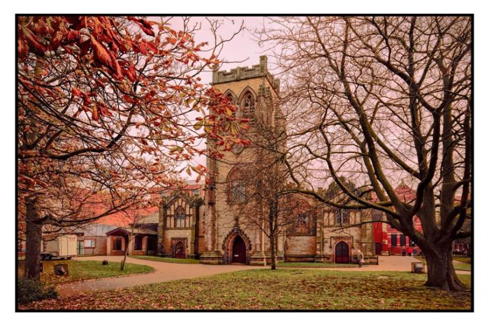 Christ Church in the Autumn, Lord Street, Southport
