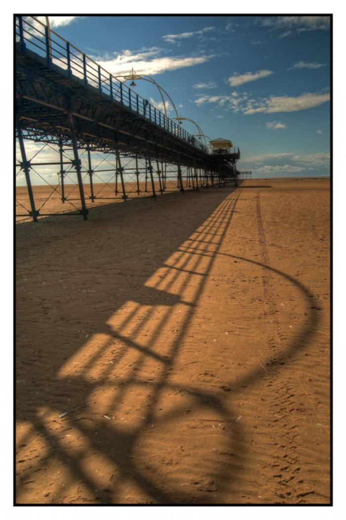 Southport Pier and its shadow