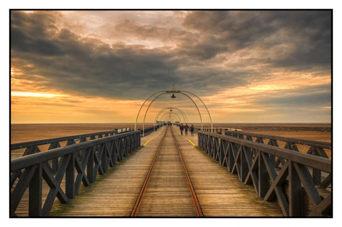 Sunset on Southport Pier