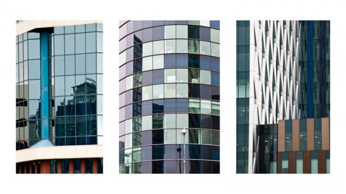 Salford Quays, abstract (Triptych)