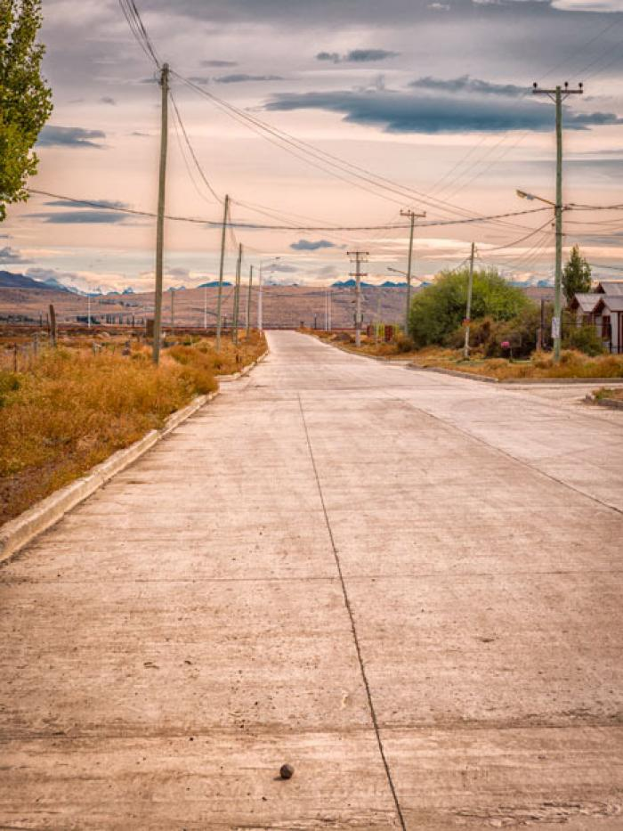 The road out of Town, El Calafate, Patagonia