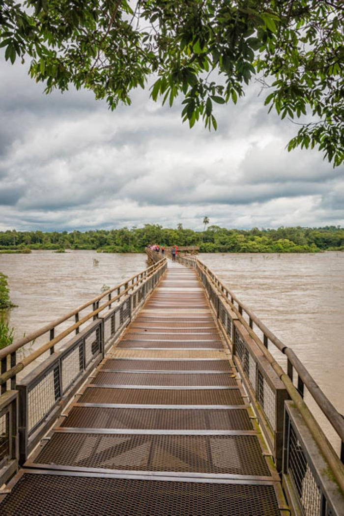 Walkway over the Iquazu River, Misiones Province, Argentina