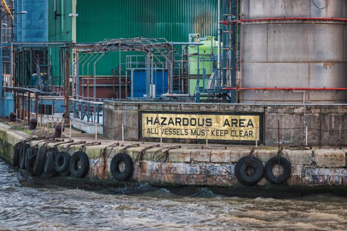 Hazardous Area, Langton Docks, Liverpool