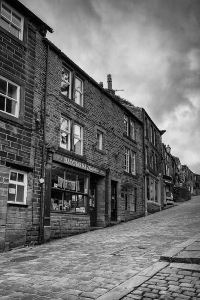 Up the cobbled hill, Haworth, West Yorkshire