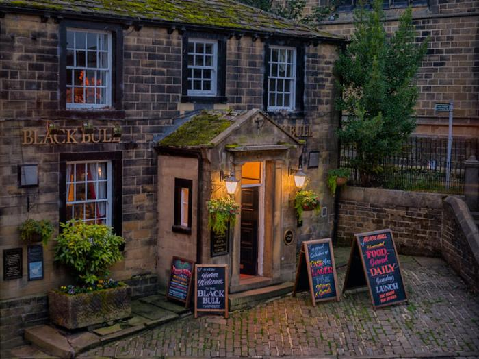 The Black Bull on a summer evening, Haworth, West Yorkshire