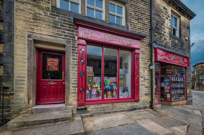 Old fashioned sweet shop, Haworth, West Yorkshire