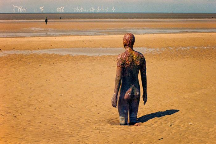 Up to the knees, Another Place, Crosby Beach